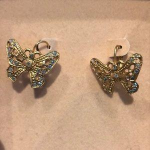 (2 for $15) Kirks Folly Butterfly Earrings New